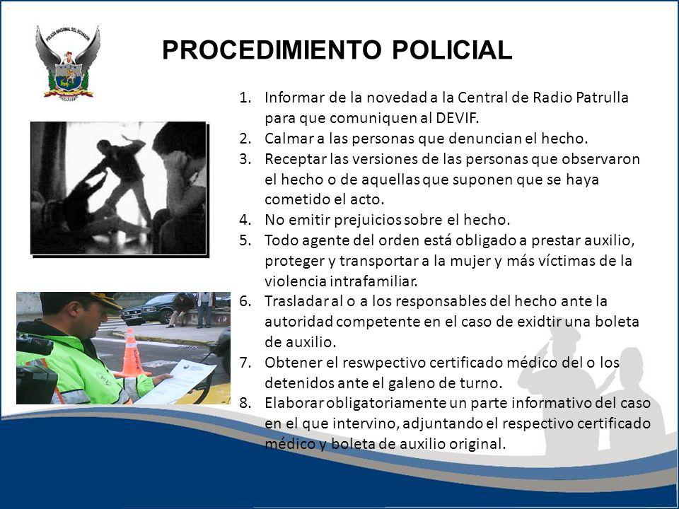 PROCEDIMIENTO POLICIAL