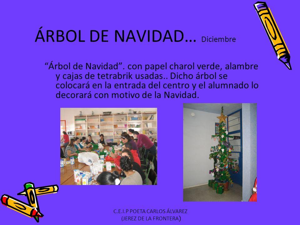 ÁRBOL DE NAVIDAD… Diciembre