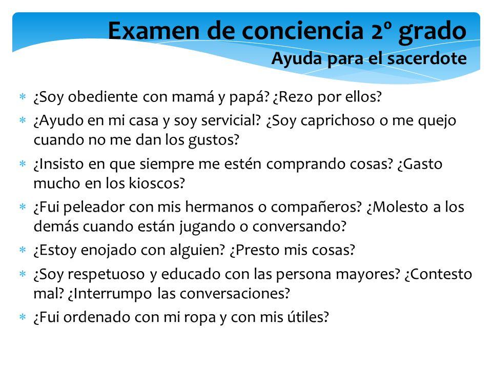 Examen de conciencia 2º grado Ayuda para el sacerdote