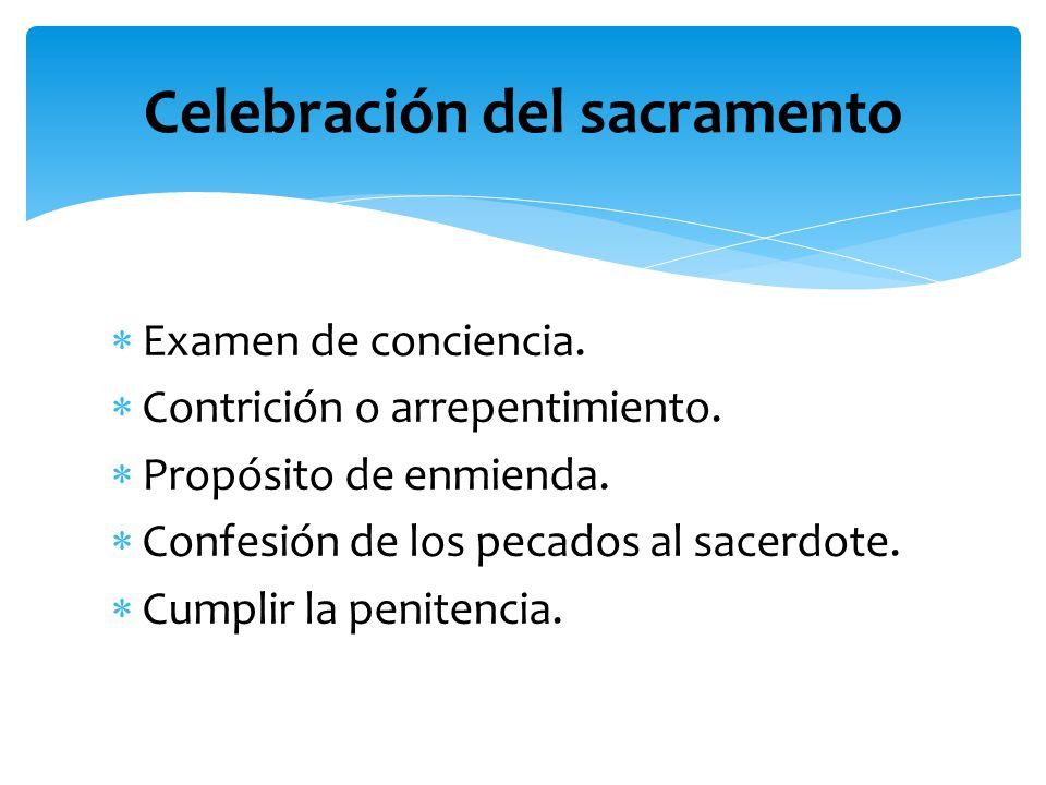 Celebración del sacramento