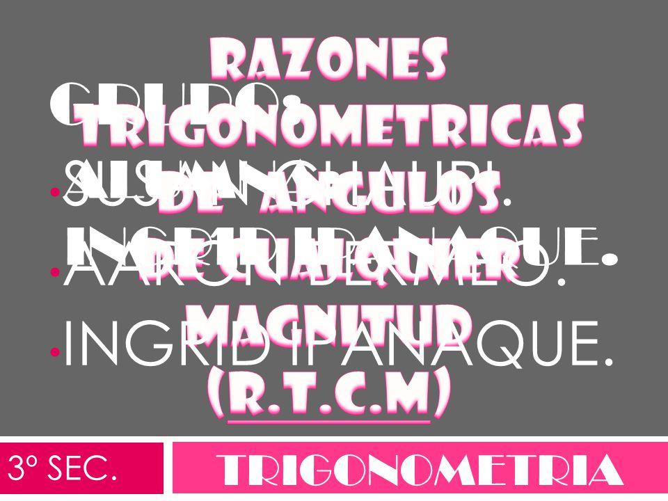 RAZONES TRIGONOMETRICAS DE ANGULOS de cualquier magnitud (R.T.C.M)