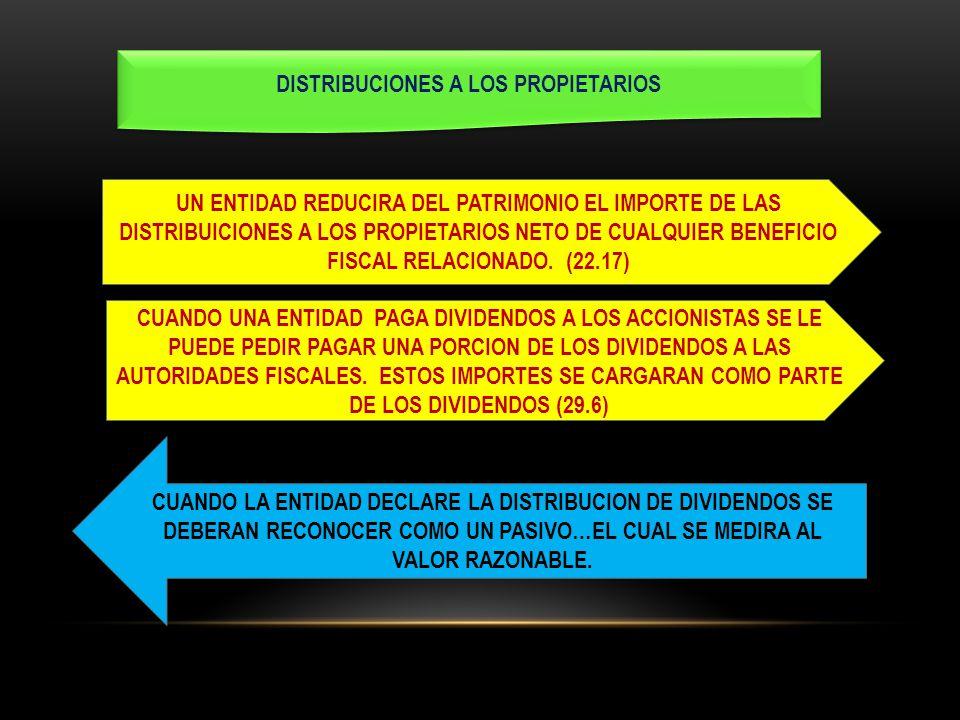 DISTRIBUCIONES A LOS PROPIETARIOS