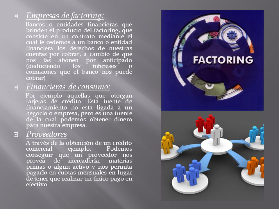 Empresas de factoring: