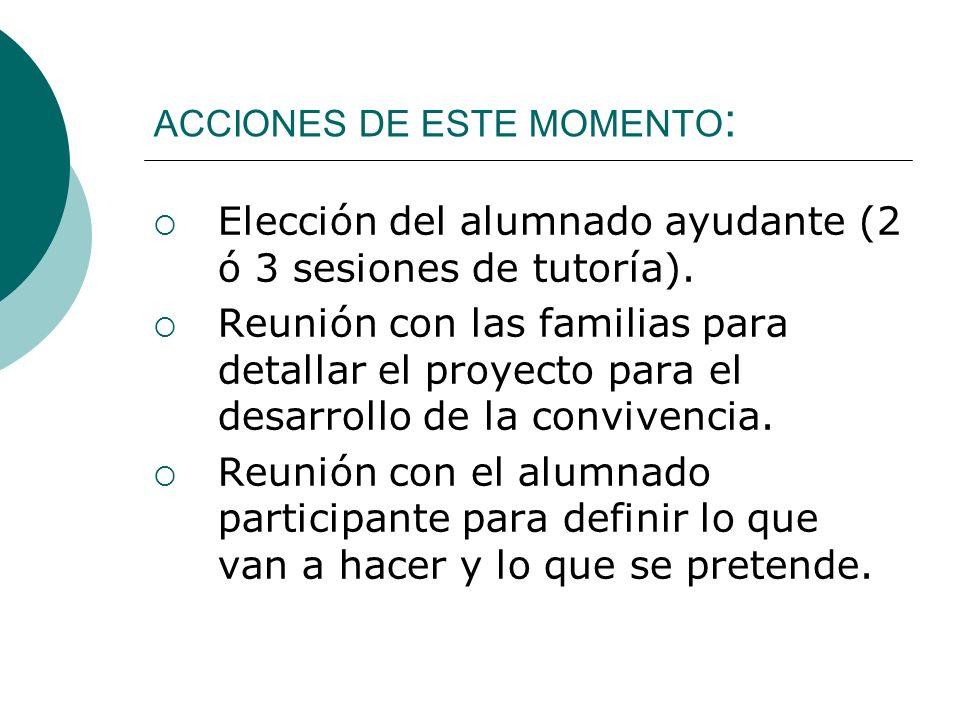 ACCIONES DE ESTE MOMENTO: