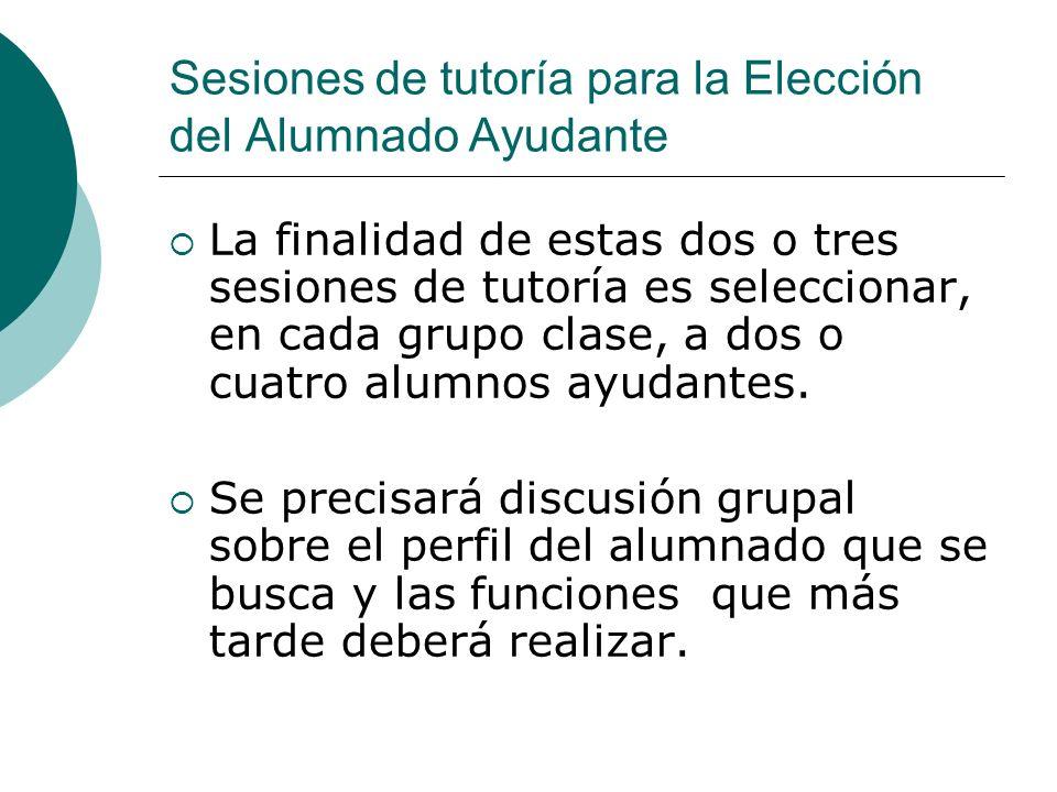 Sesiones de tutoría para la Elección del Alumnado Ayudante