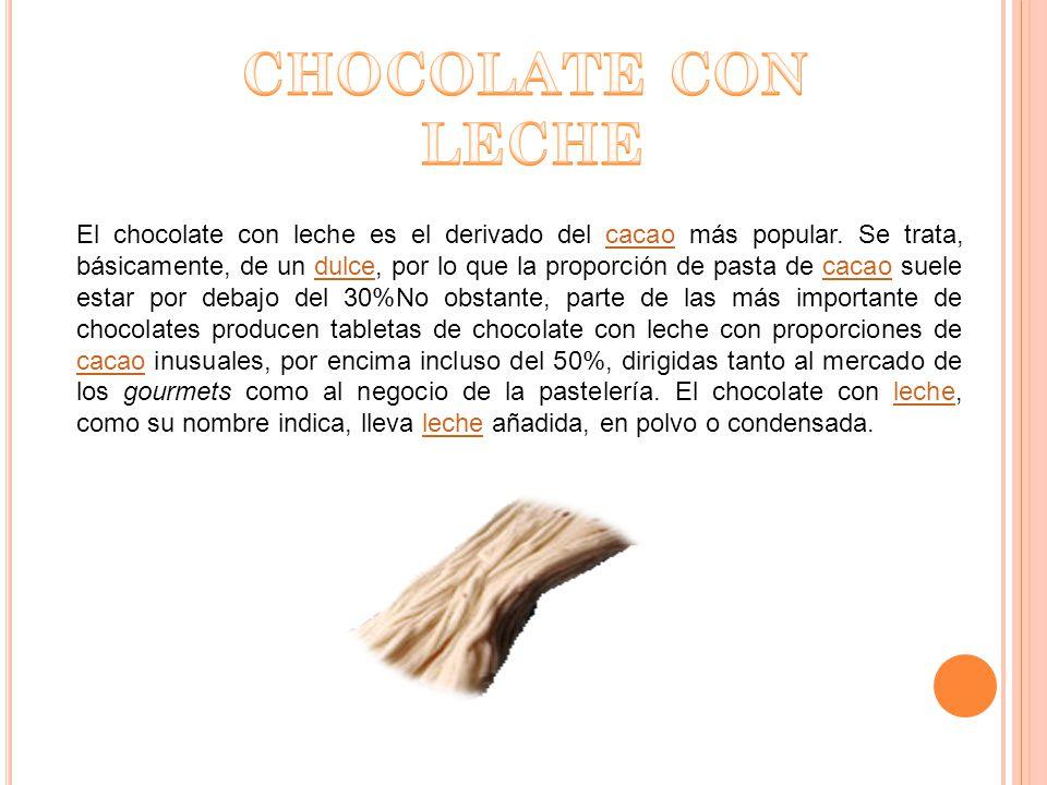 CHOCOLATE CON LECHE.