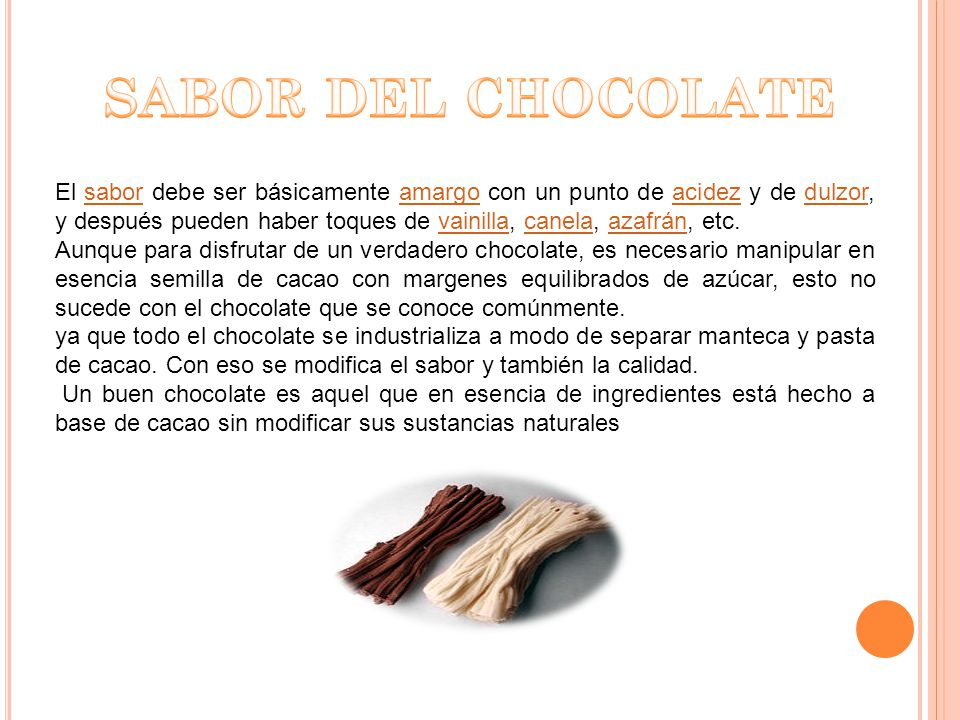 SABOR DEL CHOCOLATE