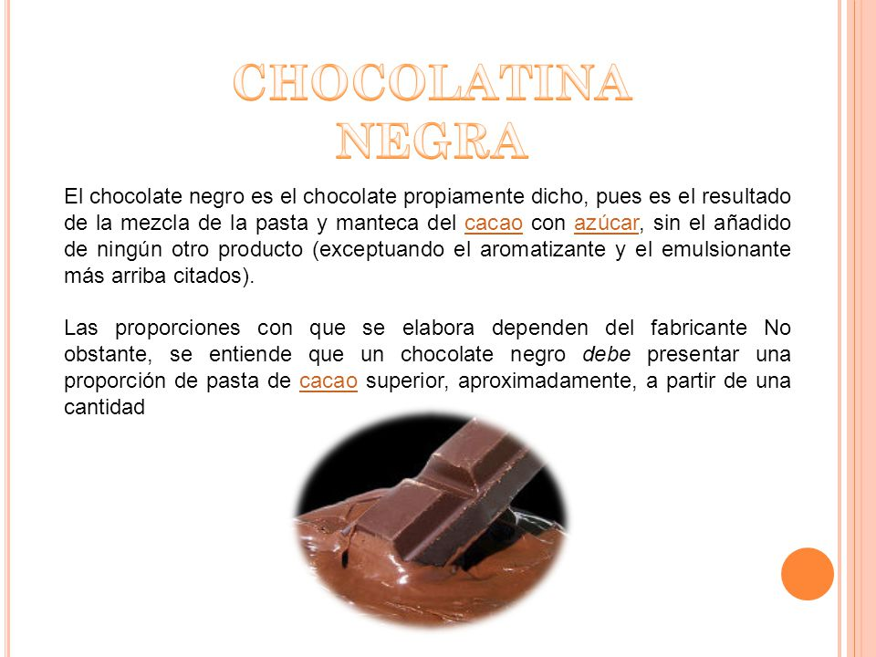 CHOCOLATINA NEGRA.