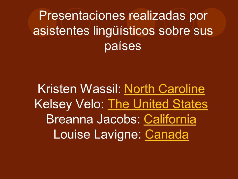 Presentaciones realizadas por asistentes lingüísticos sobre sus países