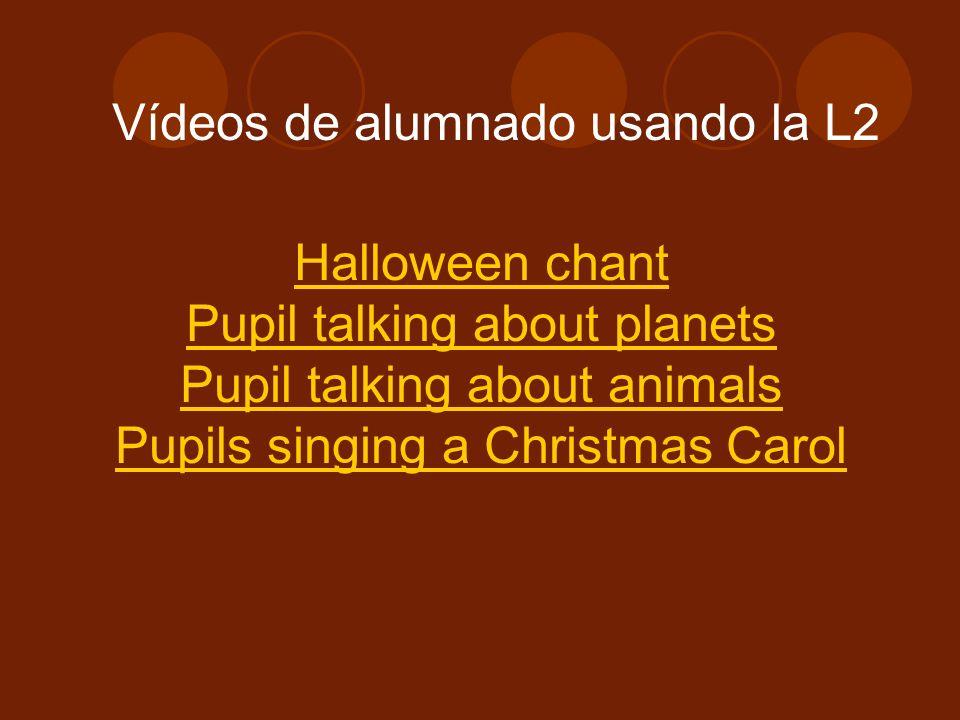 Vídeos de alumnado usando la L2