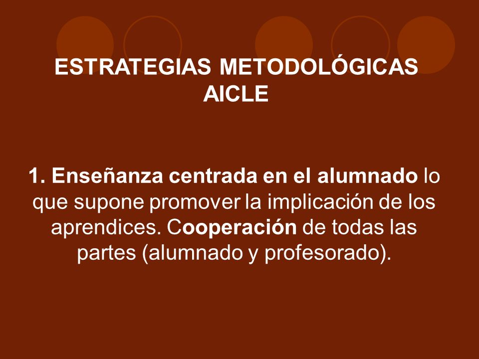 ESTRATEGIAS METODOLÓGICAS AICLE