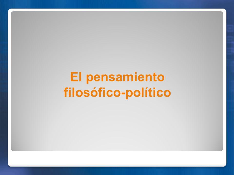 El pensamiento filosófico-político