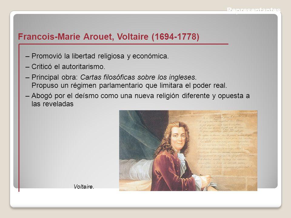 Francois-Marie Arouet, Voltaire (1694-1778)