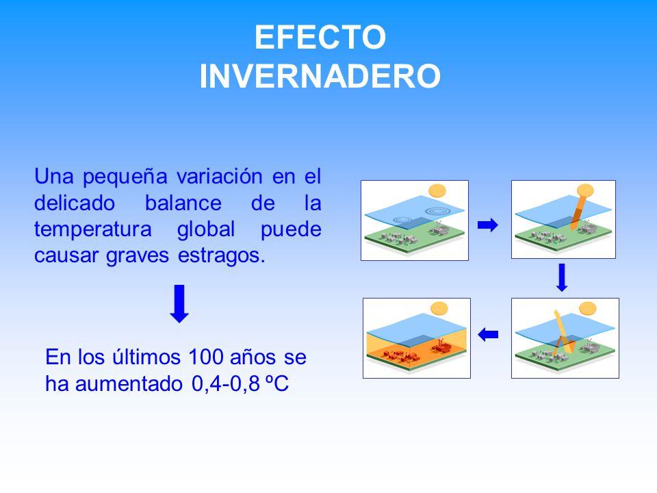 EFECTO INVERNADERO Una pequeña variación en el delicado balance de la temperatura global puede causar graves estragos.