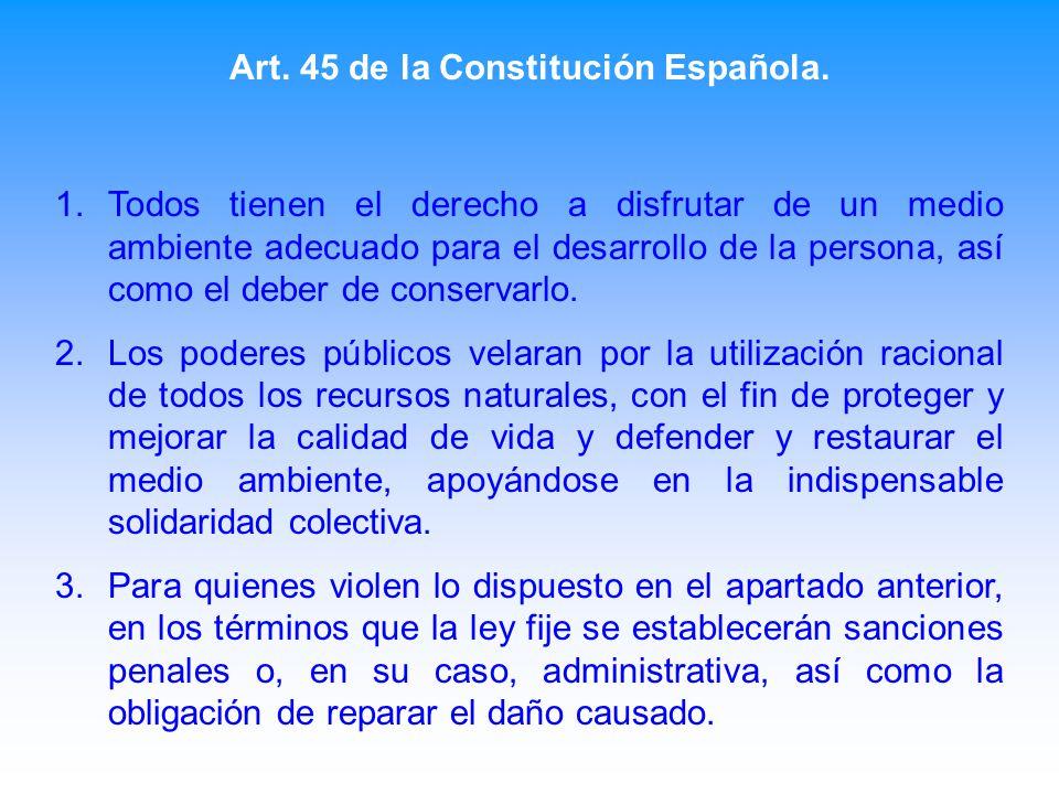 Art. 45 de la Constitución Española.