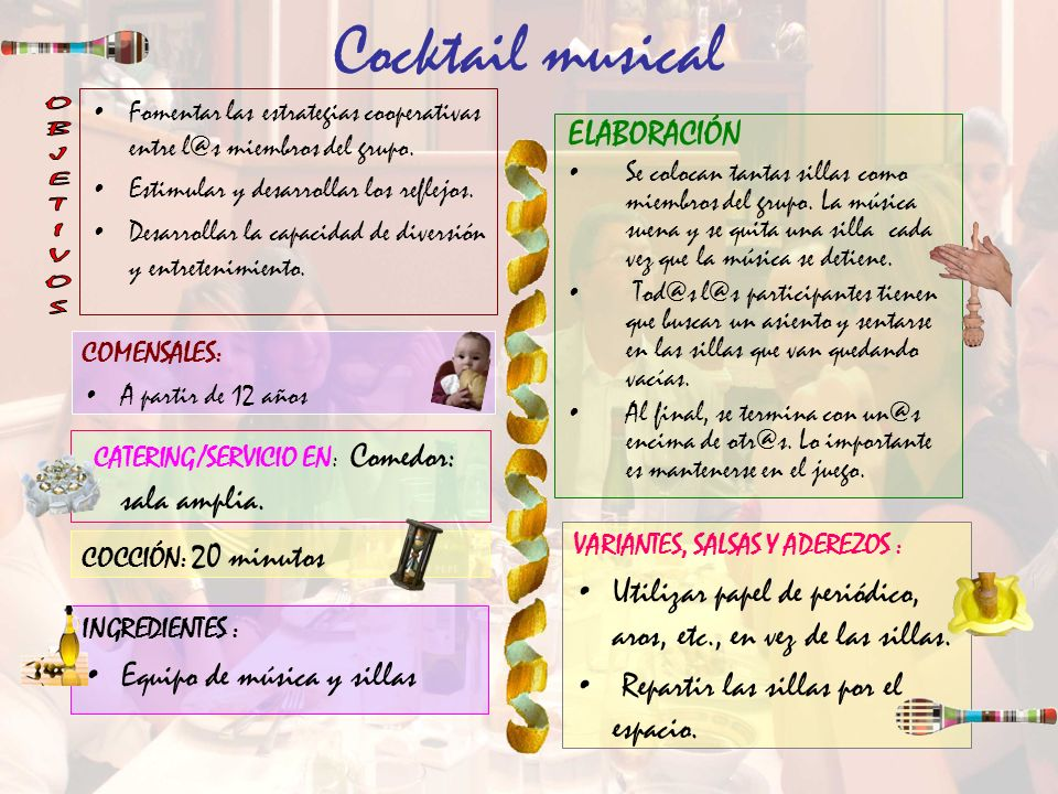 Cocktail musical OBJETIVOS