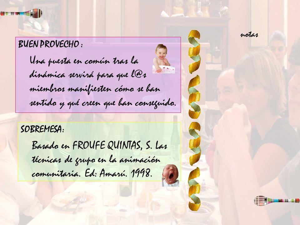 notas BUEN PROVECHO :