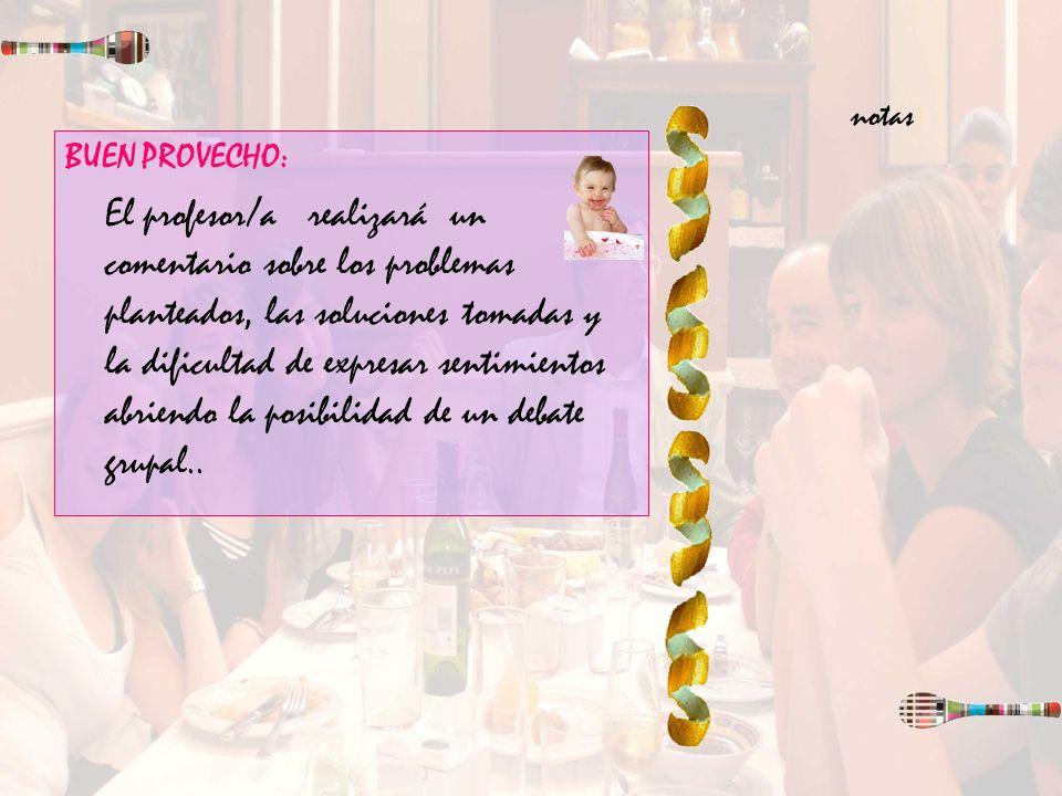 notas BUEN PROVECHO: