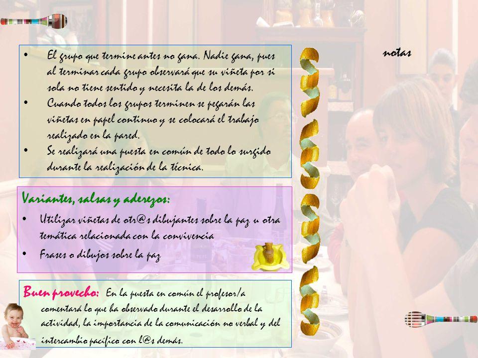 Variantes, salsas y aderezos: