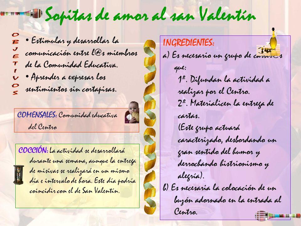 Sopitas de amor al san Valentín