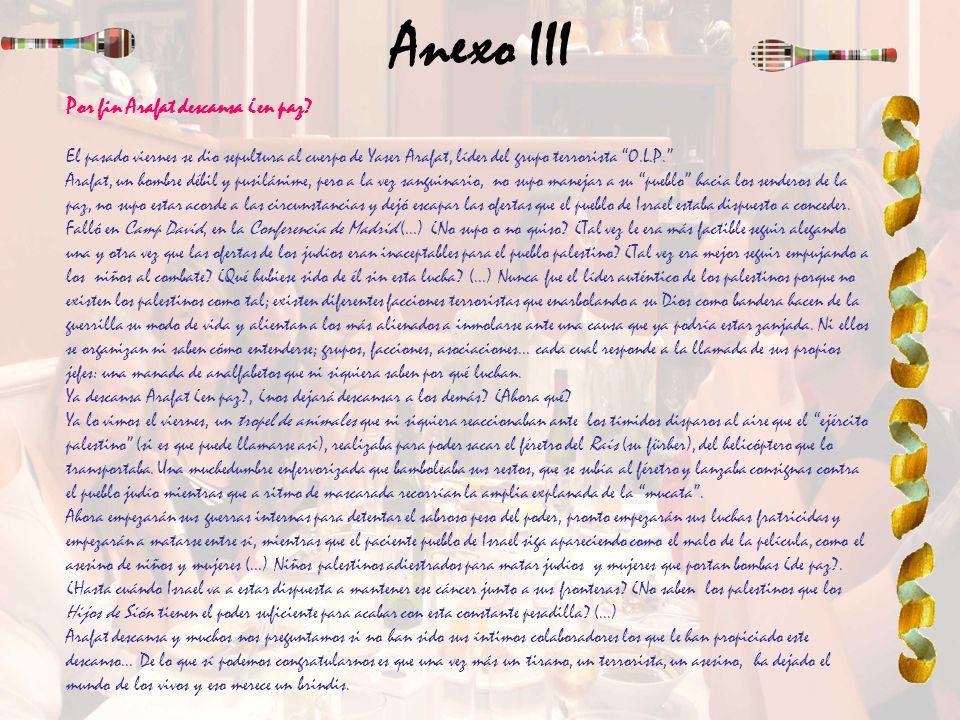 Anexo III Por fin Arafat descansa ¿en paz