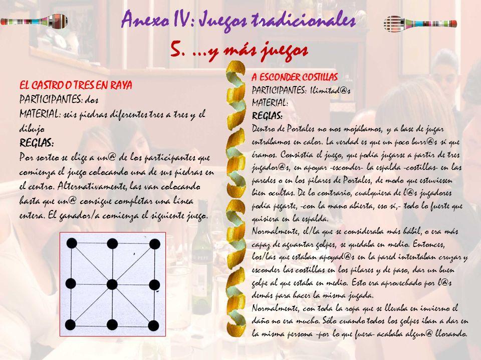 Anexo IV: Juegos tradicionales 5. …y más juegos