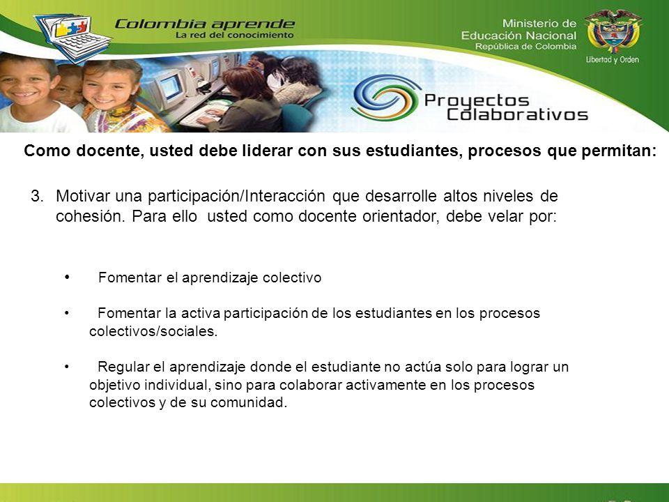 Fomentar el aprendizaje colectivo