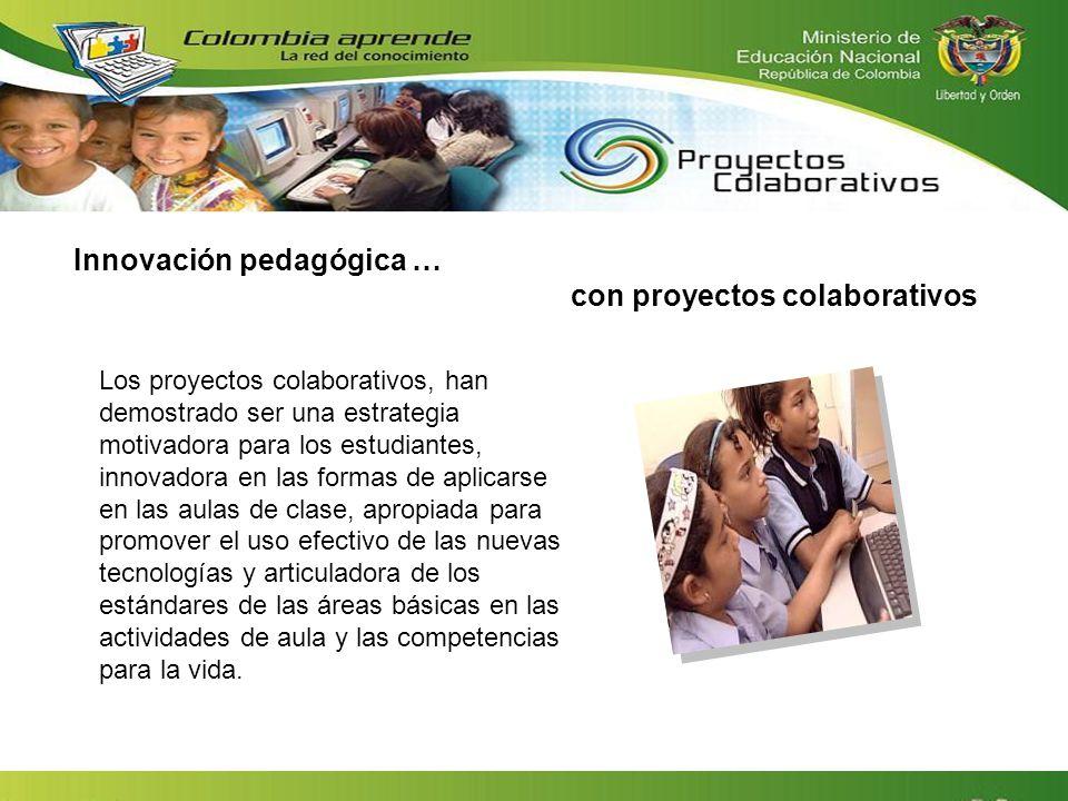 Innovación pedagógica … con proyectos colaborativos