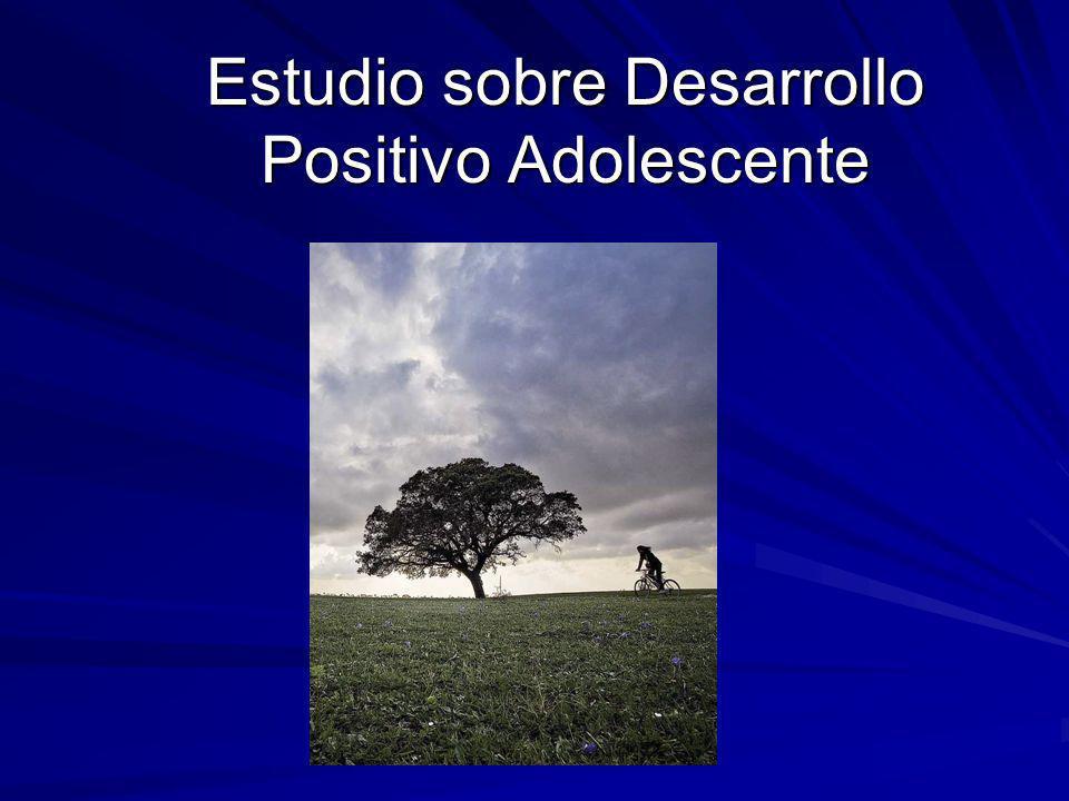 Estudio sobre Desarrollo Positivo Adolescente
