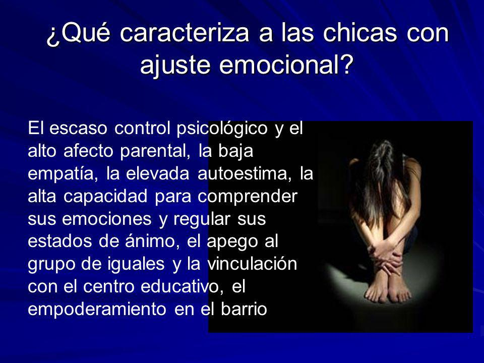 ¿Qué caracteriza a las chicas con ajuste emocional