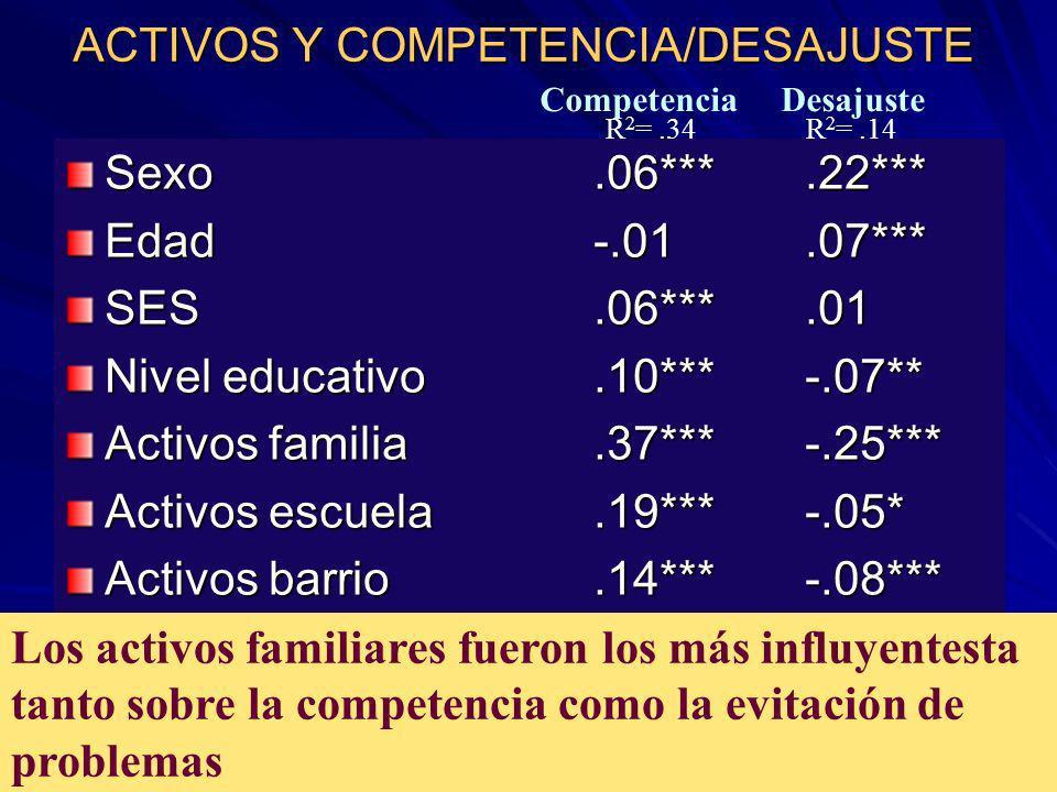 ACTIVOS Y COMPETENCIA/DESAJUSTE