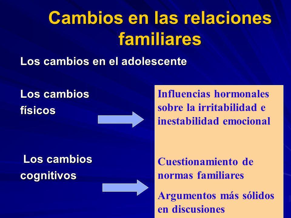 Cambios en las relaciones familiares