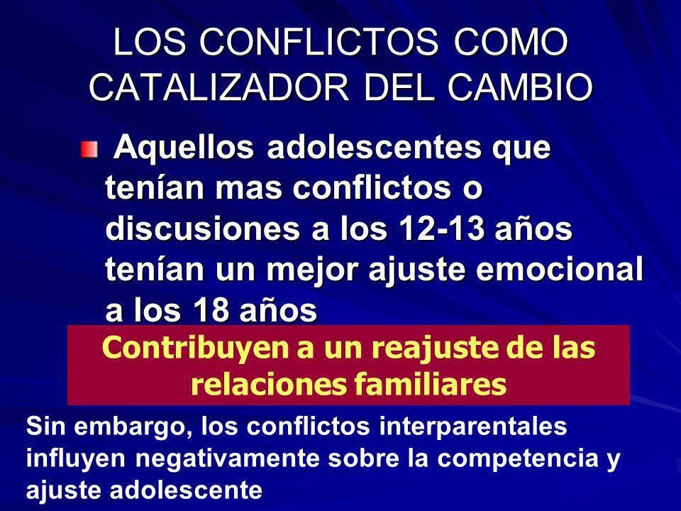 LOS CONFLICTOS COMO CATALIZADOR DEL CAMBIO