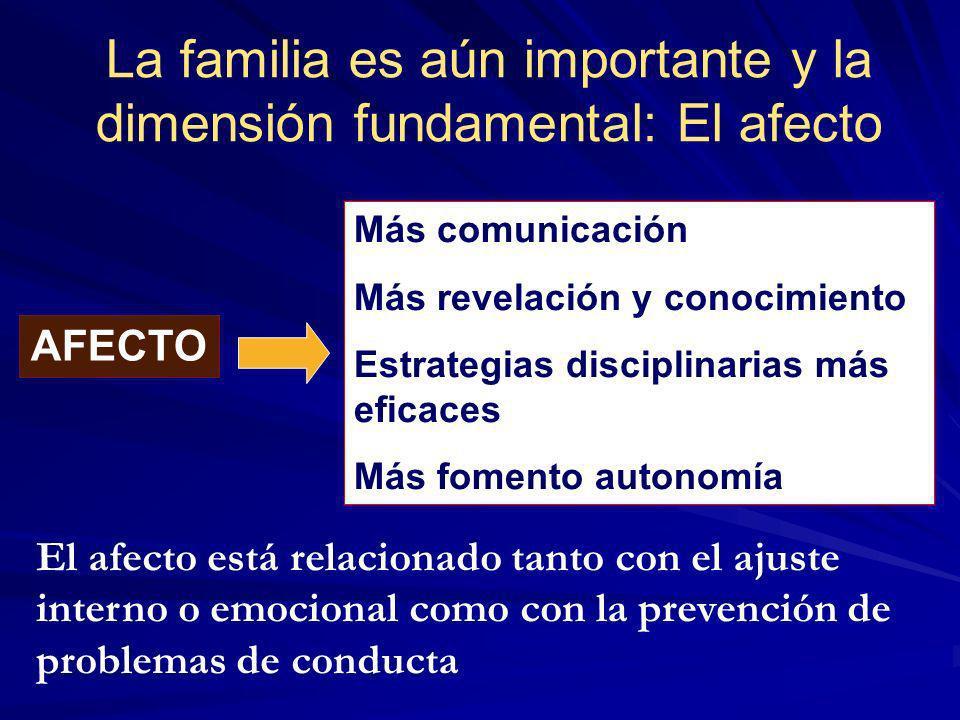 La familia es aún importante y la dimensión fundamental: El afecto