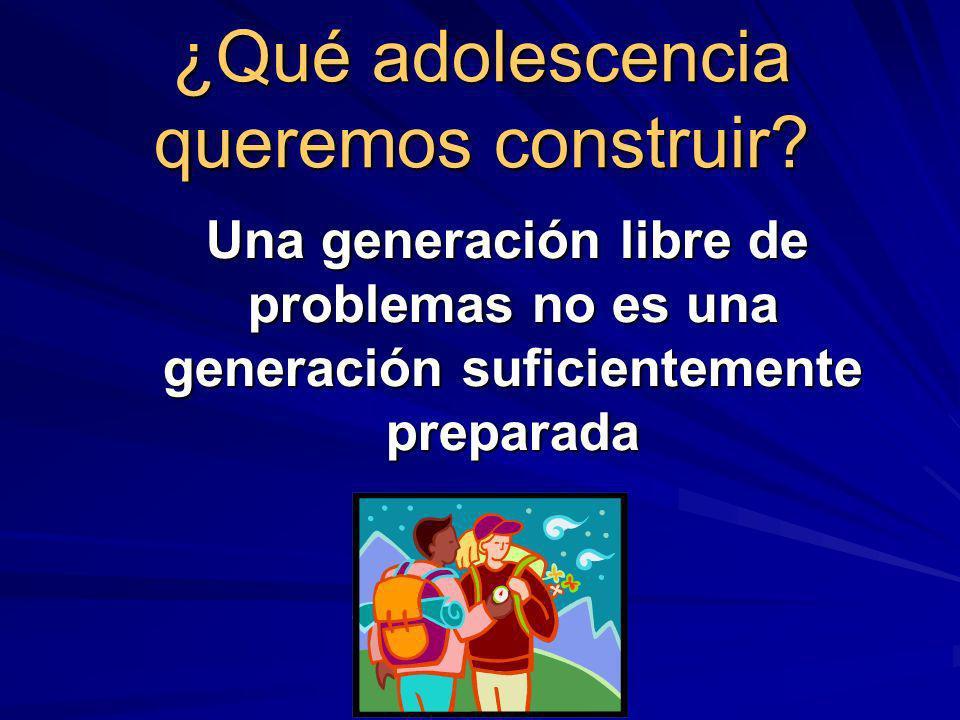 ¿Qué adolescencia queremos construir