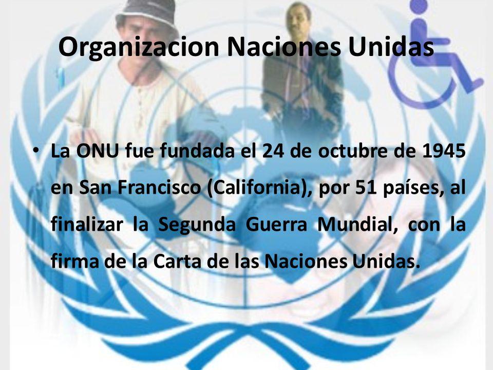 Organizacion Naciones Unidas