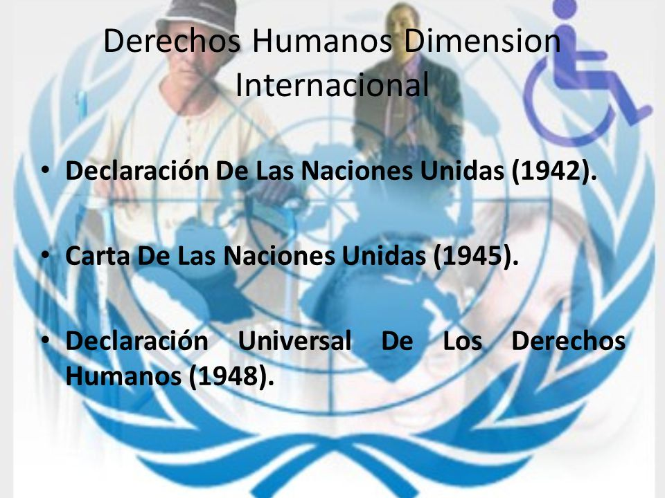 Derechos Humanos Dimension Internacional