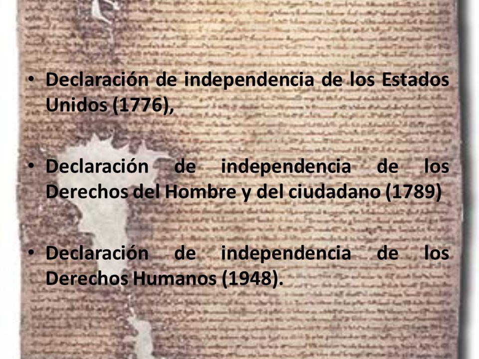 Declaración de independencia de los Estados Unidos (1776),