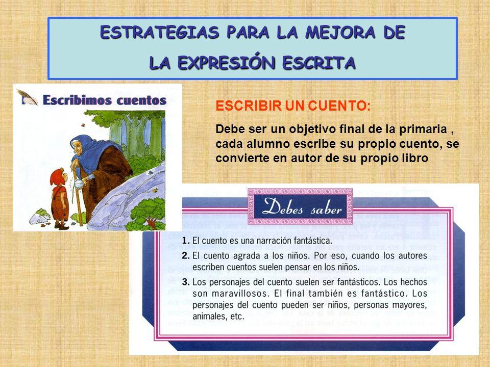 ESTRATEGIAS PARA LA MEJORA DE LA EXPRESIÓN ESCRITA