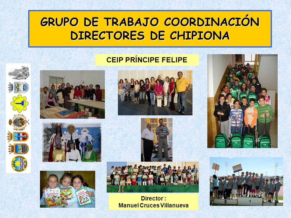 GRUPO DE TRABAJO COORDINACIÓN DIRECTORES DE CHIPIONA