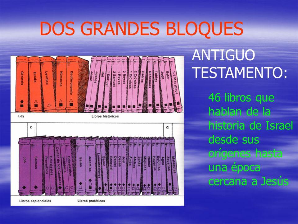 DOS GRANDES BLOQUES ANTIGUO TESTAMENTO: