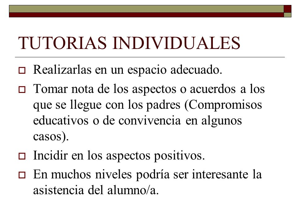 TUTORIAS INDIVIDUALES