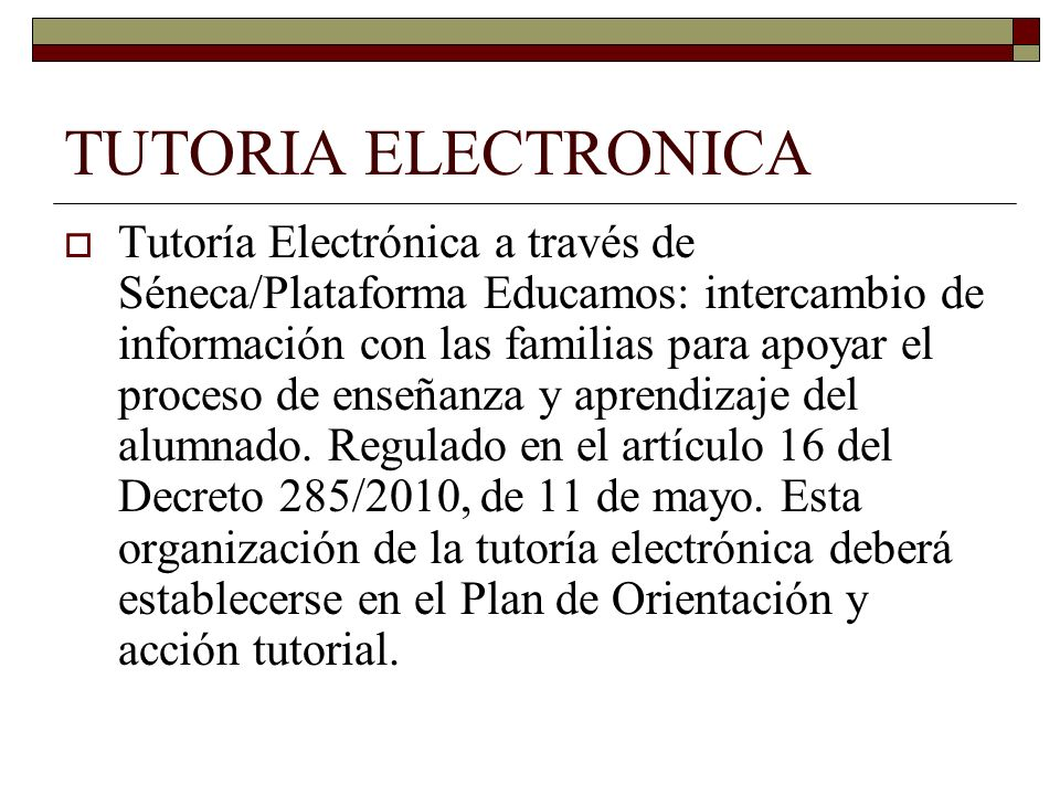 TUTORIA ELECTRONICA