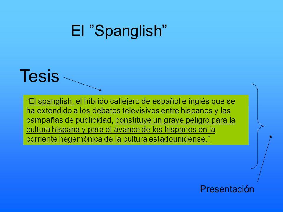 Tesis El Spanglish Presentación