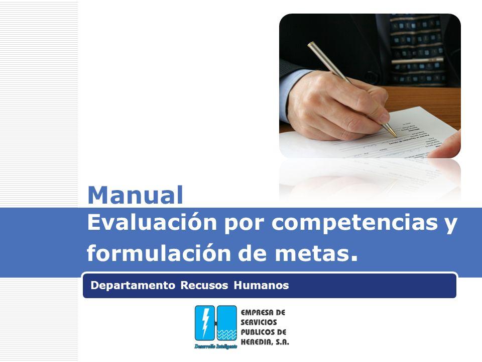 Manual Evaluación por competencias y formulación de metas.