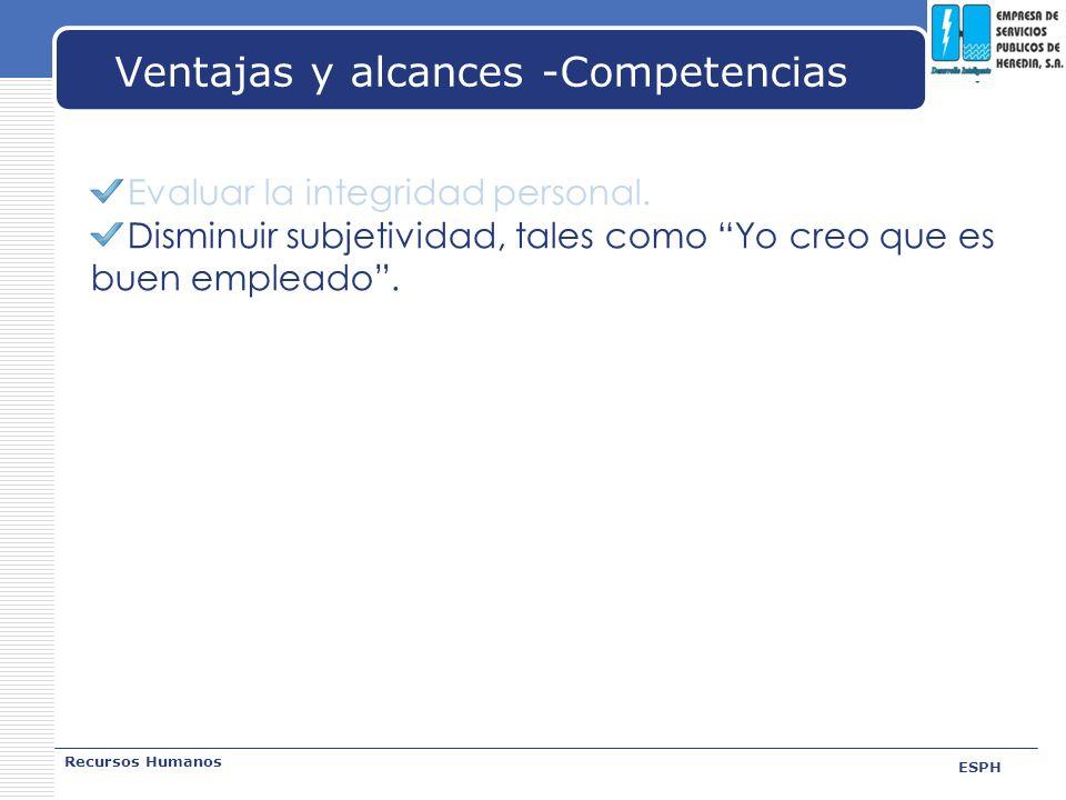 Ventajas y alcances -Competencias