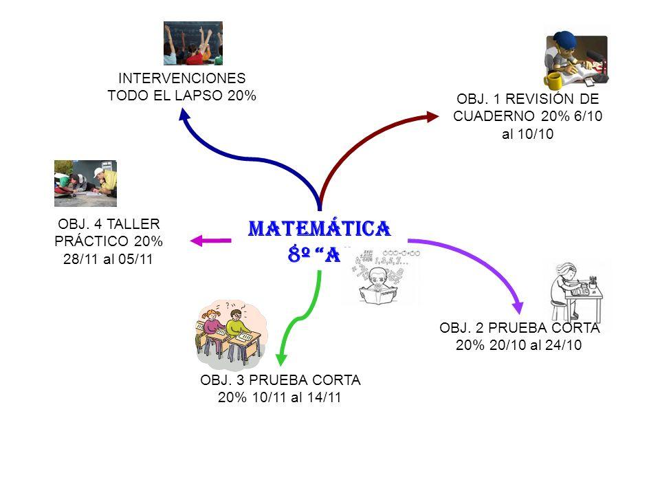MATEMÁTICA 8º A INTERVENCIONES TODO EL LAPSO 20%