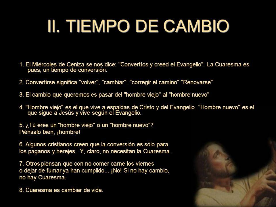 II. TIEMPO DE CAMBIO