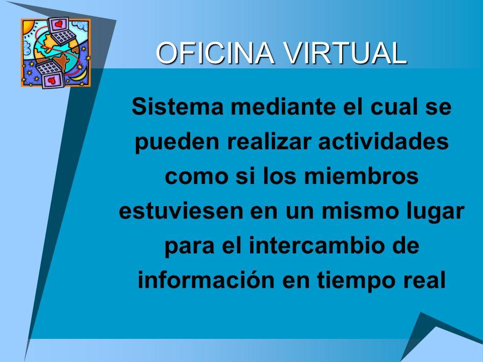 OFICINA VIRTUAL Sistema mediante el cual se