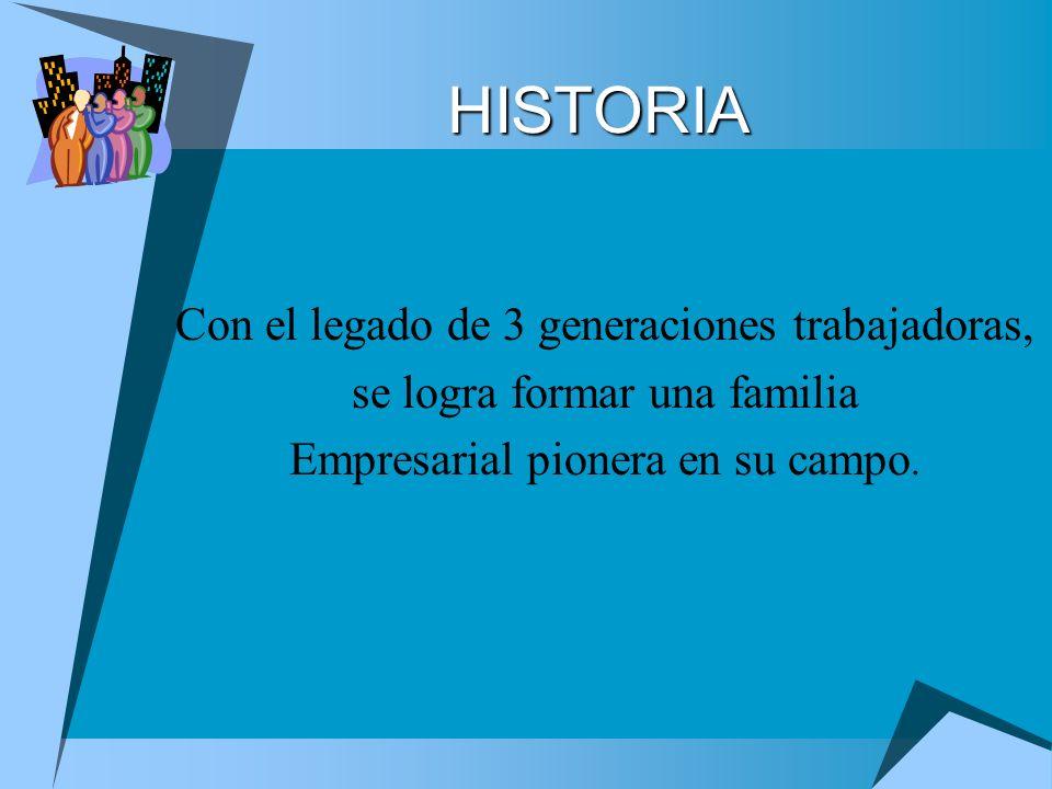HISTORIA Con el legado de 3 generaciones trabajadoras,
